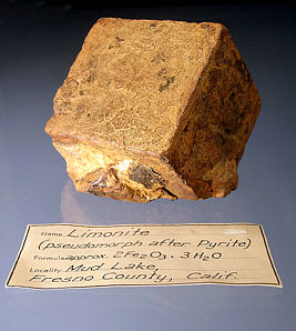 pseudomorph<br>after pyrite for sale